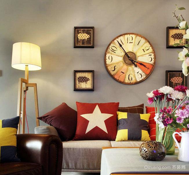 梦想中的家:美式混搭三室两厅两卫家庭室内装修效果图