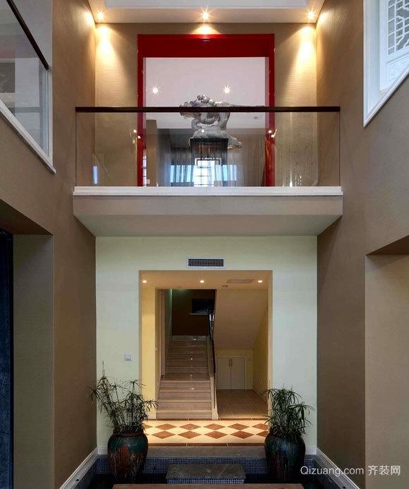 老房改造:现代简约风格中式高挑阁楼装修效果图
