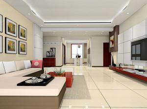 直接迈入小康生活:客厅实木沙发背景墙装修效果图欣赏