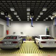汽车美容店内部结构