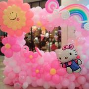 粉色调气球装饰