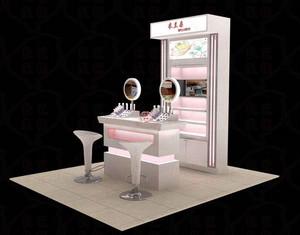 花在美也需叶扶持:精美化妆品展示柜效果图