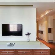 朴素型电视背景墙