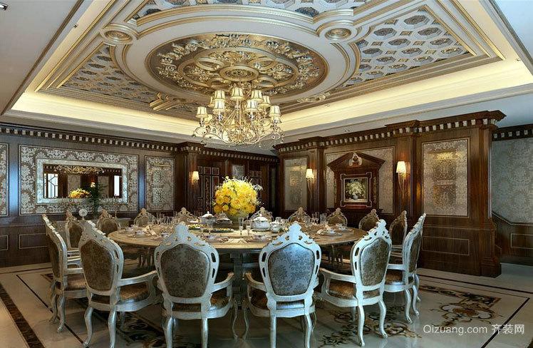 2015宫殿式的奢华迷人欧式风格会所装修设计效果图