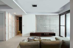 质感因子 90平米内敛混搭风格温馨三室装修效果图