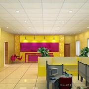 金黄色调美容院