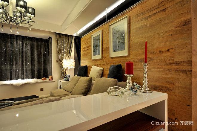 150平米感受大自然原木客厅设计的两居室房屋装修