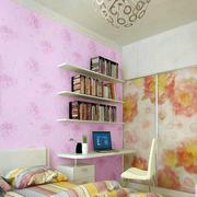 粉色调墙纸设计