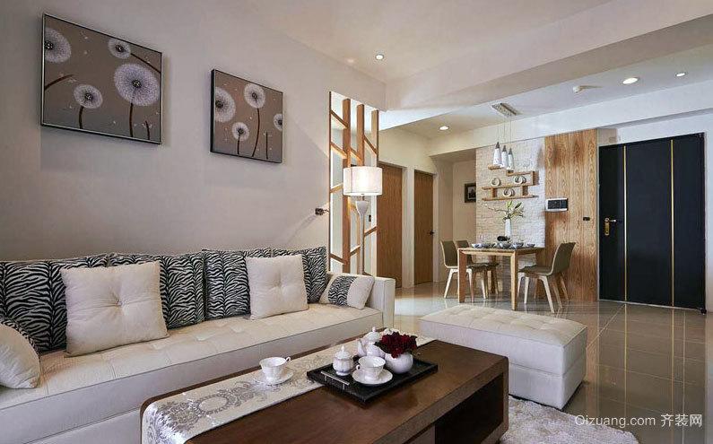二人世界:2015自然温暖的116平米新房两室一厅装修效果图