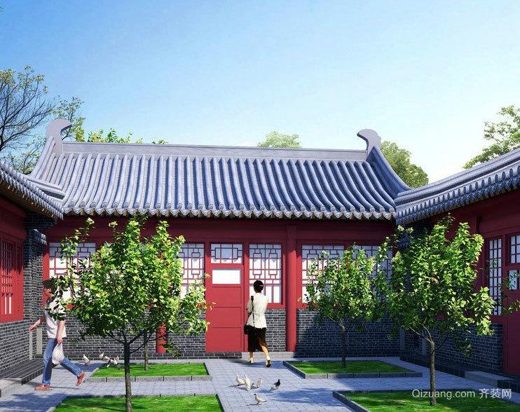 中国的文化遗产:精致北京四合院设计效果图鉴赏