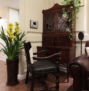 旧时印象美式复古风格平房三居装修效果图