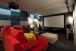 200平米内置家庭影院的现代简约风格独栋别墅装修图