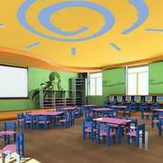 简约风格幼儿园教室墙面