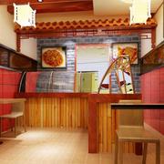 暖色调快餐店图片