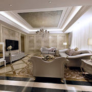 冷色调别墅客厅设计