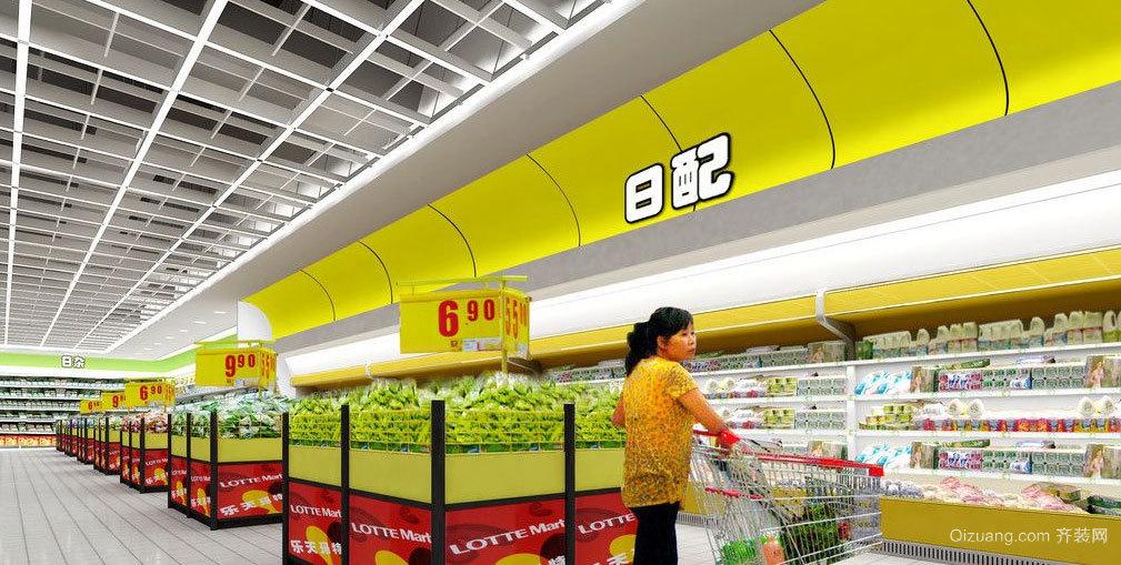大容量 牢固的超市货架装修效果图大全