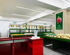 在你家小区门口的生活超市货架装修效果图
