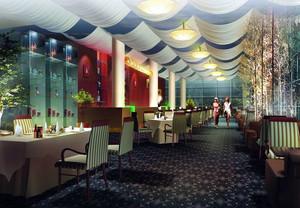 清新型餐馆吊顶设计