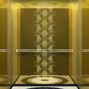 金黄色调电梯图片