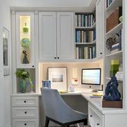 清淡风格小书房装修