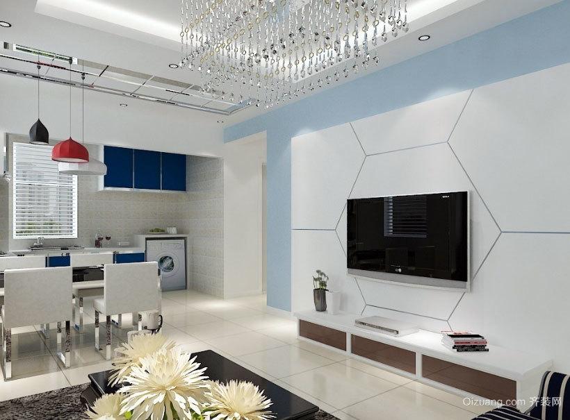 大户型简欧电视背景墙效果图实例鉴赏