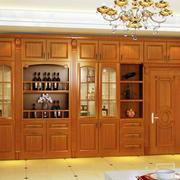 暖色调酒柜设计