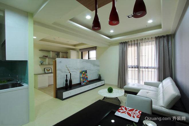 有效释放空间效率:80平米质感两居房屋装修效果图