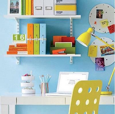 """书房也""""好色"""":活力青春小书房装修效果图"""