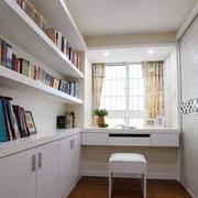纯白色调小书房装修
