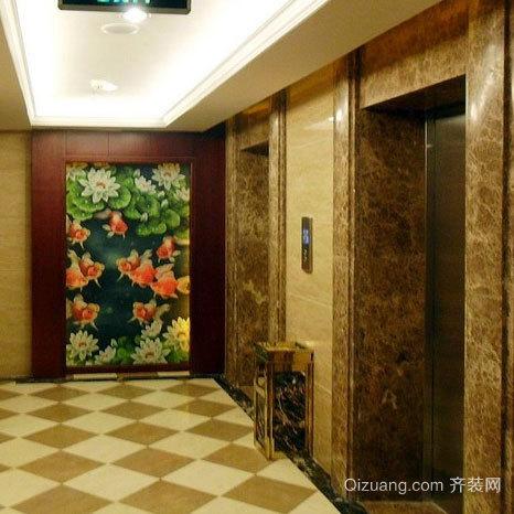 通向家的快捷通道:电梯装潢艺术设计效果图