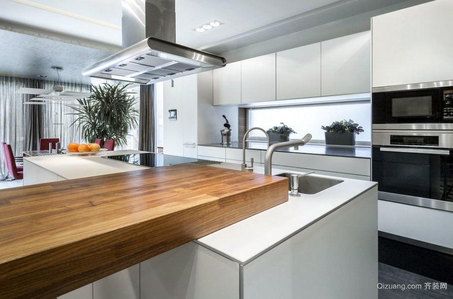 只为生活美好:三室二厅欧式开放式厨房装修效果图鉴赏