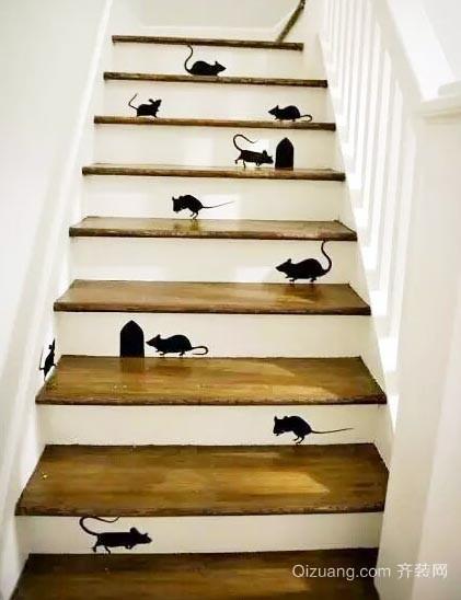 适合各种户型的创意彩绘楼梯装修设计效果图