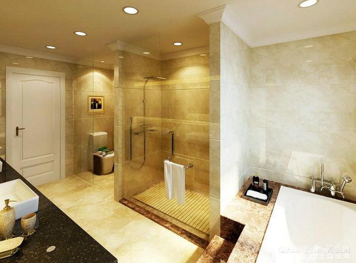 大户型极简主义卫生间设计装修效果图
