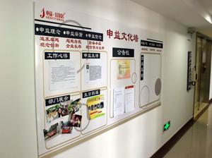 企业的形象:企业文化墙装修效果图