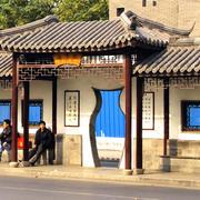古典风格公交站图片