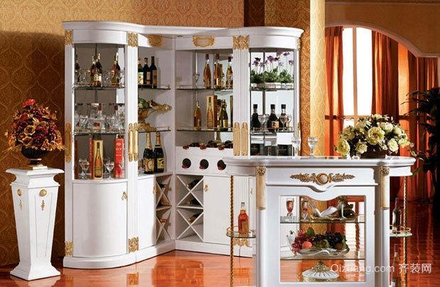 品味人生 享受生活欧式酒柜效果图