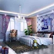 怡情紫色调背景墙