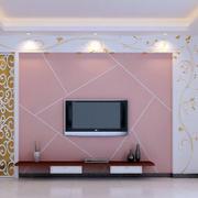 粉色调硅藻泥背景墙