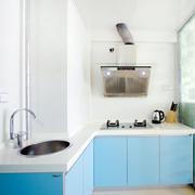 蓝色调厨房装修