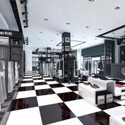 斑马线型服装店