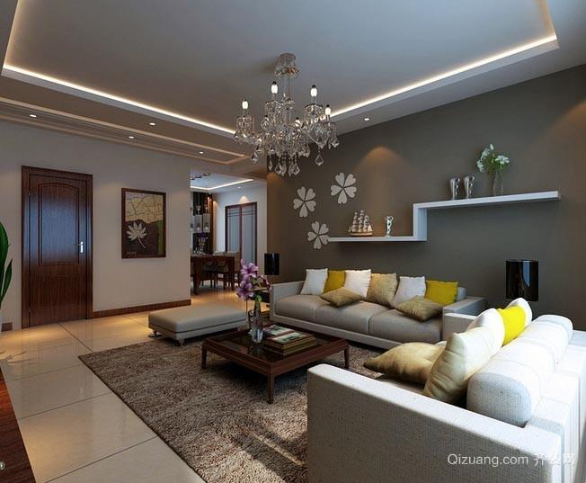 家的主旋律:客厅吊顶装修效果图欣赏