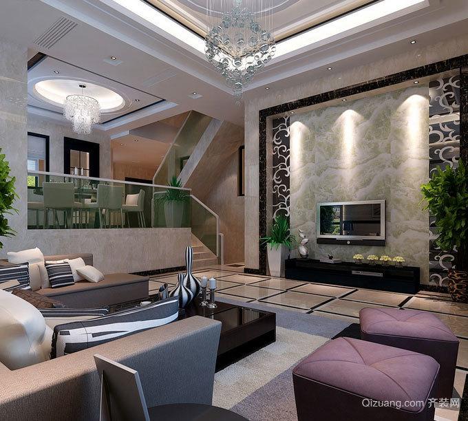 创意鲜明独特:欧式别墅客厅装修效果图实例欣赏大全