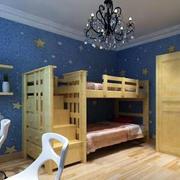 儿童房实木床设计
