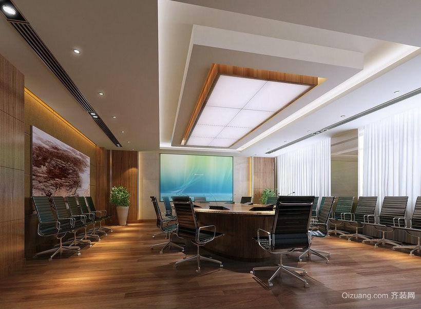 凸显出您的气派:大型会议室设计效果图实例欣赏大全