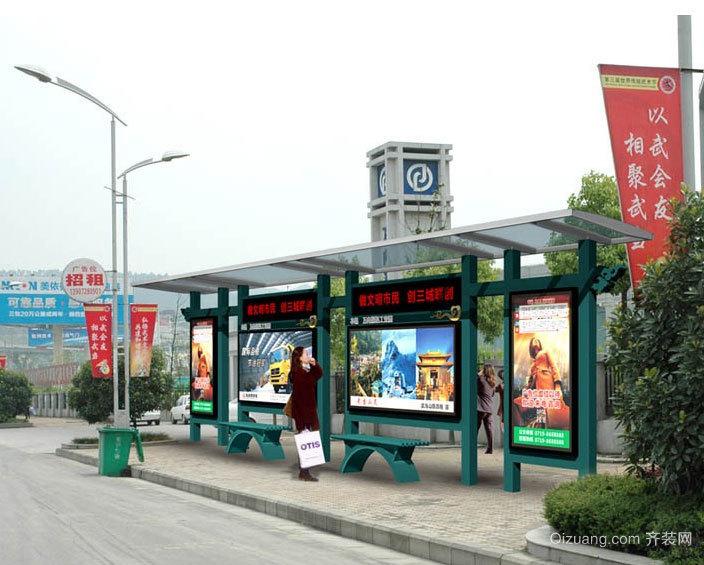 城市直通车:精巧的都市公交车站台装修效果图大全
