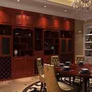 棕色调酒柜设计