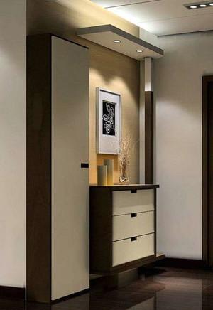 2015设计绝妙的大户型玄关鞋柜装修效果图实例欣赏