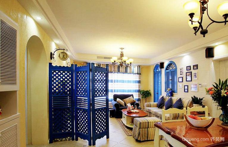 增加家庭神秘感的客厅隔断装修效果图