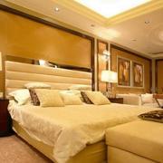 暖色调 卧室效果图