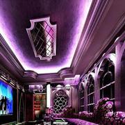 紫色调ktv设计